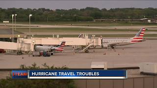 Travelers wait for refunds from airlines after hurricanes - Video