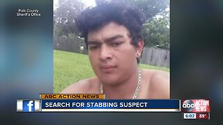 Stabbing suspect wanted in Polk County