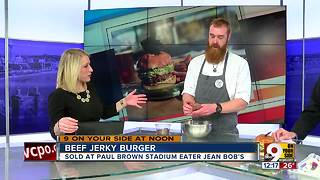 Beef jerky burger - Video