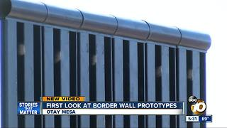 First glimpse of border wall prototypes - Video