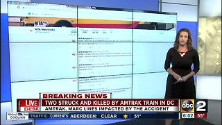 2 hit by Amtrak train in DC, trains canceled during rush hour - Video