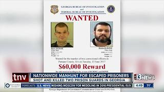 Nationwide manhunt for escaped prisoners - Video