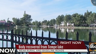 Body recovered from Tempe lake - Video