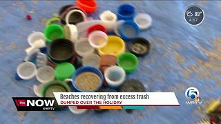 Beaches recovering from excess trash - Video