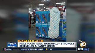 Pool float looks like a giant panty liner? - Video