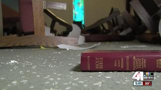 Church congregation shocked by vandalism - Video