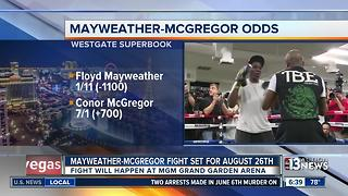 Mayweather, McGregor fight set for August 26 - Video