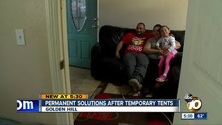 Permanent solutions after temporary tents - Video