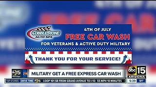 Free car wash for military members in the Valley - Video