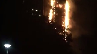 London Apartment Building Goes Up in Flames - Video