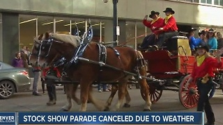 Cold weather, snow cancels Denver stock show parade - Video