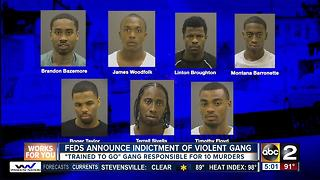 Feds: Gang implicated in 10 Baltimore killings - Video