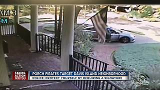 Tampa police searching for package thief who stole hundreds in holiday gifts
