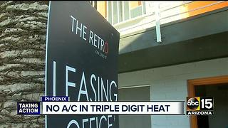 People at apartments left without A/C in heat of summer - Video