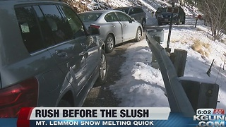 Heavy traffic on Mount Lemmon before snow melts - Video
