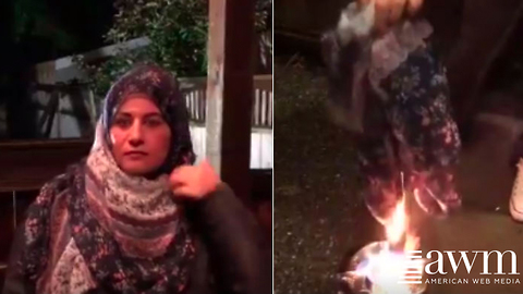 Footage Of Woman Removing Hijabs And Burning Them In Protest Of Islamic Law Goes Viral