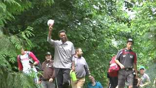 Philo Brathwaite Scores an Albatross During Disc Golf Tournament - Video
