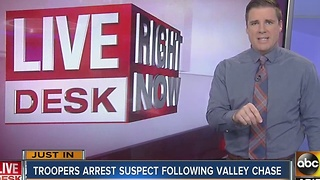 DPS: Two taken into custody following south Valley pursuit Monday morning - Video