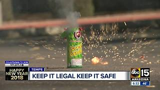 Police looking out for illegal fireworks on New Year's Eve - Video
