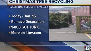 Christmas tree recycling begins annual push in Vegas area - Video