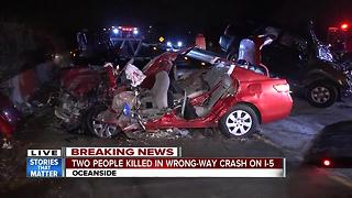 Two people killed in wrong-way crash on I-5 - Video