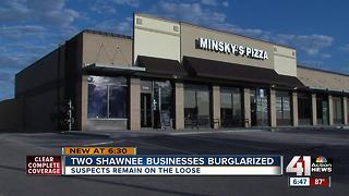 Shawnee police investigate two burglaries - Video