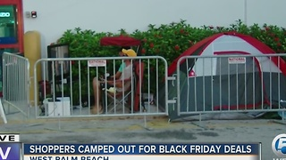 Camping out for Black Friday deals - Video