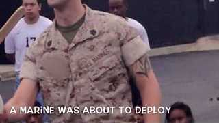 Marine Surprises Son in Emotional Departure Video - Video