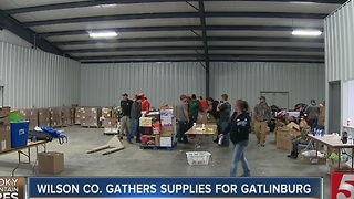 Volunteers Create Care Packages For Fire Victims - Video