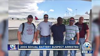 Man arrested for sexual battery of woman in 2004