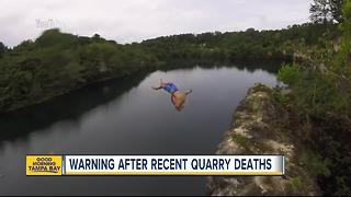 Deputies warn of dangers after teen dies after cliff diving into quarry - Video
