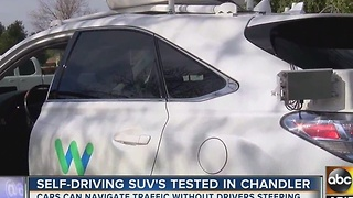 Self-driving cars being tested across the Valley - Video