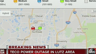 TECO power outage in Lutz area - Video