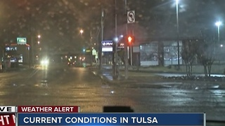 Winter Weather coverage: Early morning conditions in Tulsa - Video