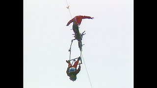 High-Wire Motorbike Stunt - Video