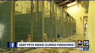 Keeps pets indoors during fireworks show! - Video