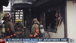 12 people displaced by apartment fire near Eastern, Stewart - Video