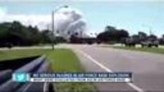 Explosion causes evacuations at Eglin AFB - Video