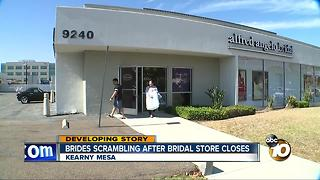 Brides scrambling after bridal stores closes - Video