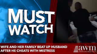 Wife and her family beat up husband after he cheats with mistress - Video