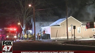 Cause of early morning house fire under investigation - Video
