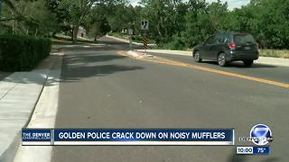 Golden police cracking down on noisy, modified mufflers - Video