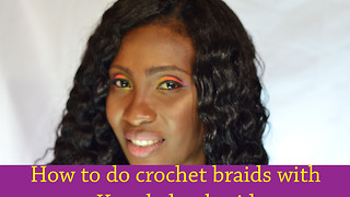 How to do Simple crochet braid using kanekalon hair - Video