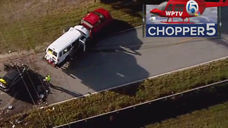 1 dead, 16 hurt in two St. Lucie County crashes - Video