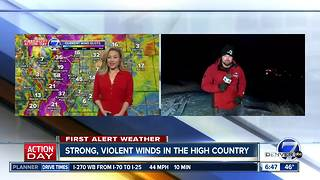 First Alert Action Day: High Winds in the mountains! Denver will stay dry & mild -until the weekend! - Video