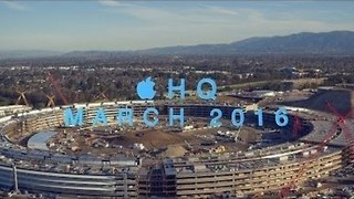 Stunning View of Apple Campus 2 Under Construction - Video