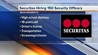 Workers Wanted: Securitas hiring 150 security officers - Video