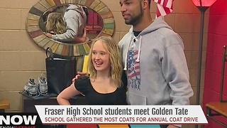 Golden Tate coat donations - Video