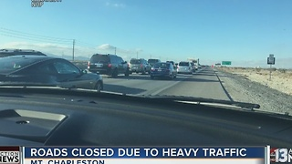 Extremely heavy traffic on Mt. Charleston - Video