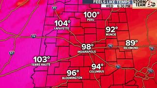 Hot & Humid - Heat Index Near 100 - Video